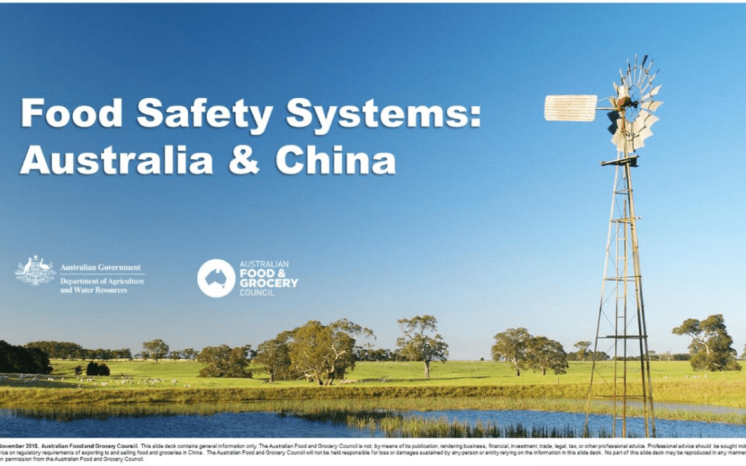 Food Safety Systems: Australia and China
