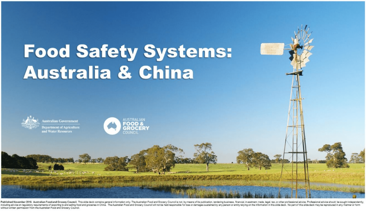 Food Safety Systems: Australia & China
