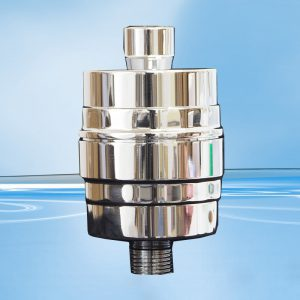 AquaSafe 45013 Shower Filter - Chrome Solid Brass without Rose-0