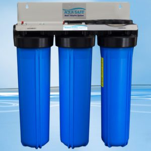 """AquaSafe AS505 20"""" Big Blue Triple Whole of House Filtration System-0"""