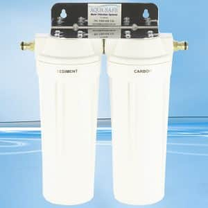 """AS200CV10 10"""" Twin Sediment and Carbon Filter-0"""